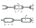 DIN 762 and DIN 763 long link chain