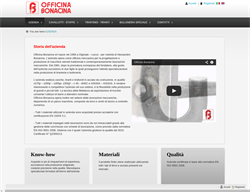 New website for the bolts and tie rods manufacturer Officina Bonacina