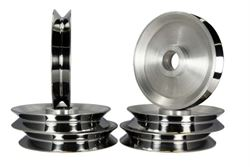 Lighter and cost-saving aluminum pulleys for your machines