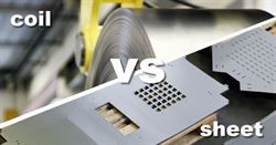 Coil vs. Sheet punching: how to save 9800 Euro per month in raw material