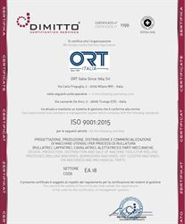 ORT Italia, a certified thread rolling machines producer