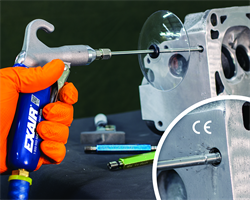 EXAIR's newest product: soft grip back blow safety air gun for cleaning small Inside diameters