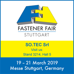 Fastener Fair Stuttgart, So.tec will be one of the protagonists