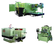 Nut and flange nut tapping machines