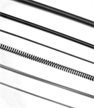 Steel continuous length extension springs