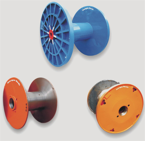 Enhanced metal flange process reels for cable wire and rope